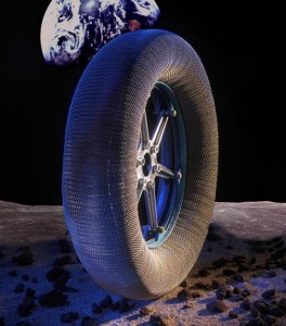 First moon tyre - collaboration between goodyear and NASA
